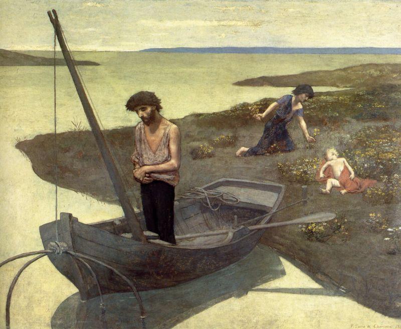 1881 puvis de chavannes, le pauvre pêcheur  fisherman