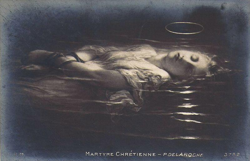 Paul Delaroche carte postale N:B
