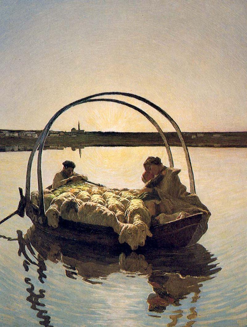 Giovanni-Segantini-ave maria a trasbordo 1886