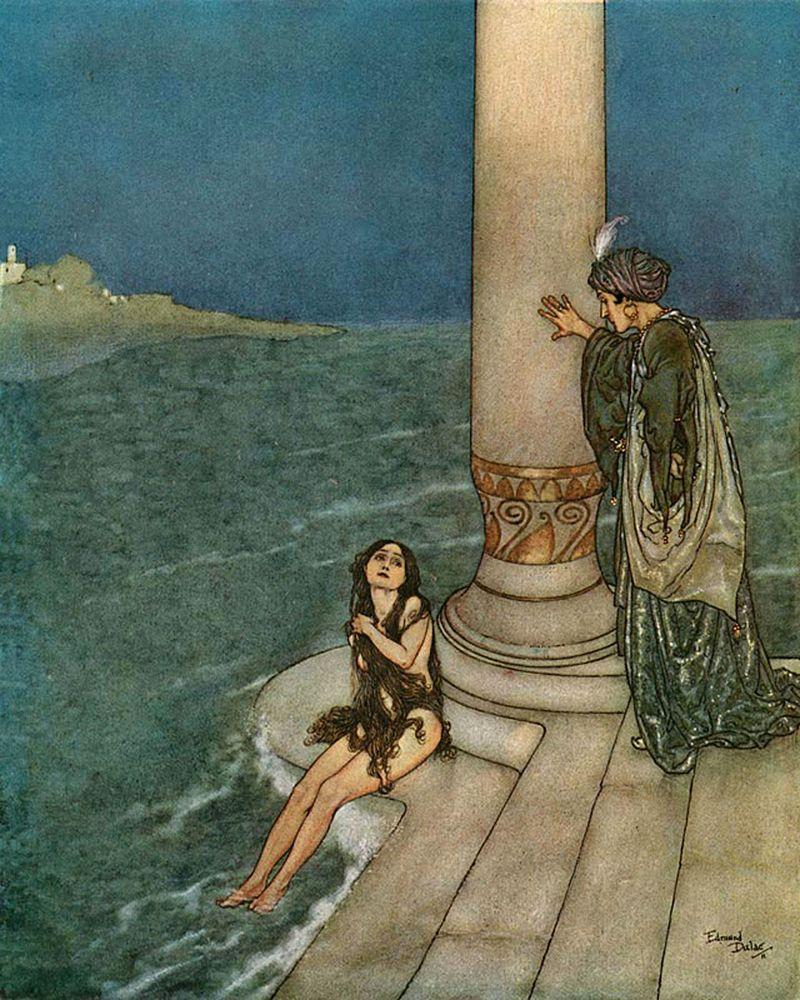 Edmund_Dulac_-_The_Mermaid_-_The_Prince