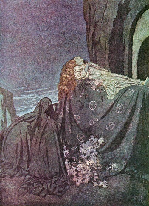 Dulac_lenore_Edmund Dulac - Edgar Allan Poe Illus. Lenore