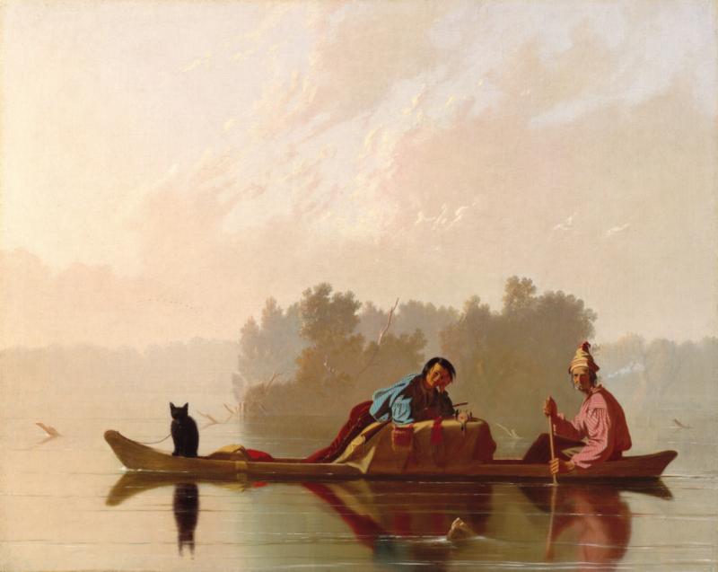 George Caleb Bingham Fur Traders Descending the Missouri