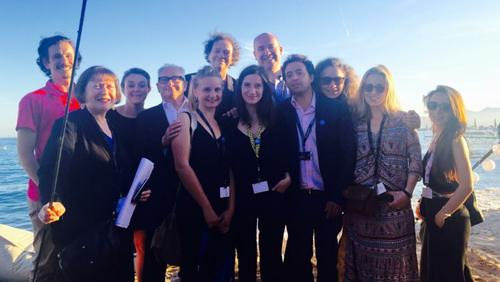 L'équipe des Arcs à Cannes