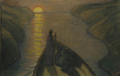 Ludwig von Hofmann on the river of the dead